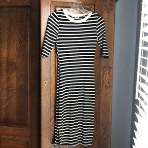 Black and Cream Striped Dress